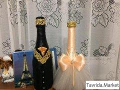 Бутылки под заказ -свадьба.