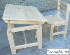 Растущий стол и стул