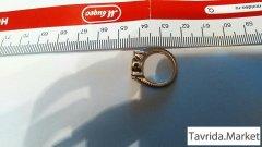 Кольцо 925 нат серебро, позолота, аметист.