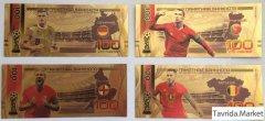 Сувенирная банкнота 100 рублей Чемпионат мира по футболу 2018 в ассортименте