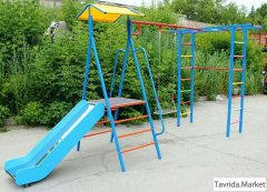 Уличный Детский Спорткомплекс ДСК Дача с горкой