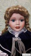 Кукла фарфоровая, Англия, новая