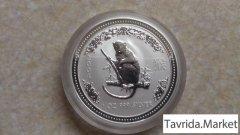 1 доллар Австралия, серебро (год Обезьяны, 2004)