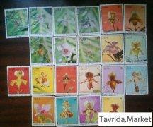 Марки. Куба. цветы 1971-1973