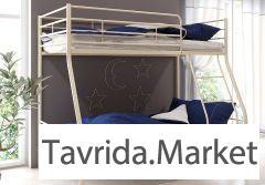 Двухъярусная кровать+ 2 матраса+ящик.