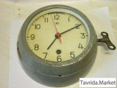 Часы корабельные СССР, будильник, янтарь СССР