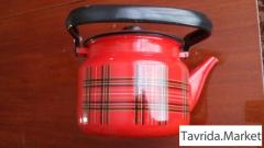 Кружки эмаль новые и чайник