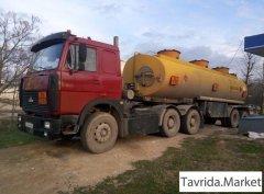 Маз 64229 и ппц 23350 л бензовоз