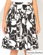 новая черно-белая юбка