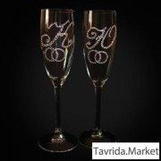 Свадебные бокалы на заказ