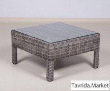 Столик кофейный 70х70х38 из искусственного ротанга