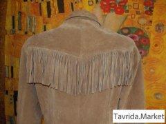 Пальто натуральное, замша